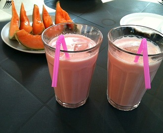Food: Homemade watermelon smoothie