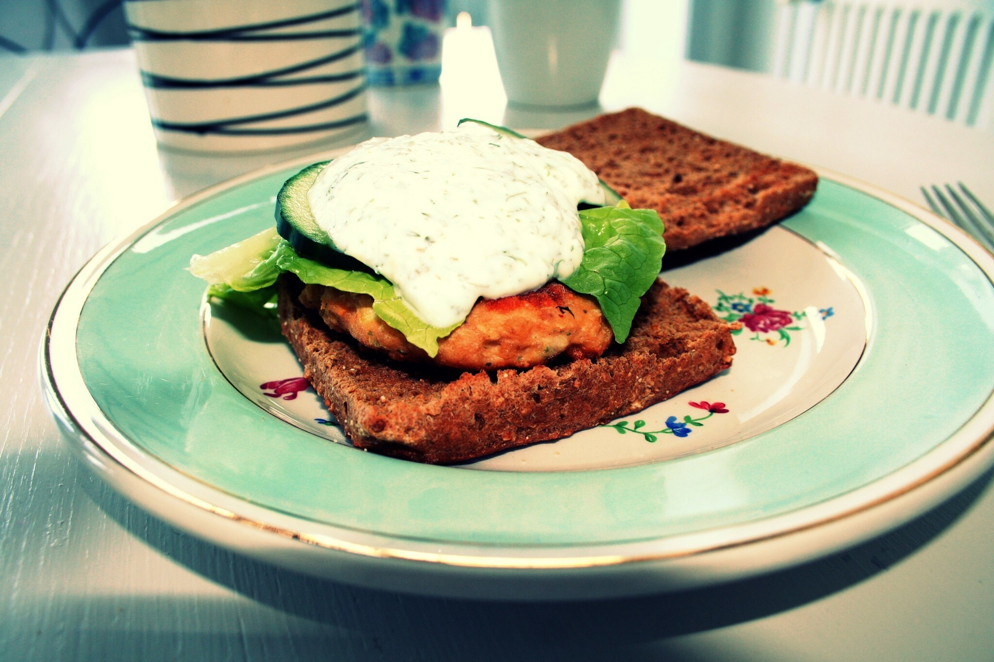 Salmon steak (burgers)