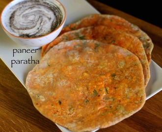 paneer paratha recipe | how to make paneer paratha