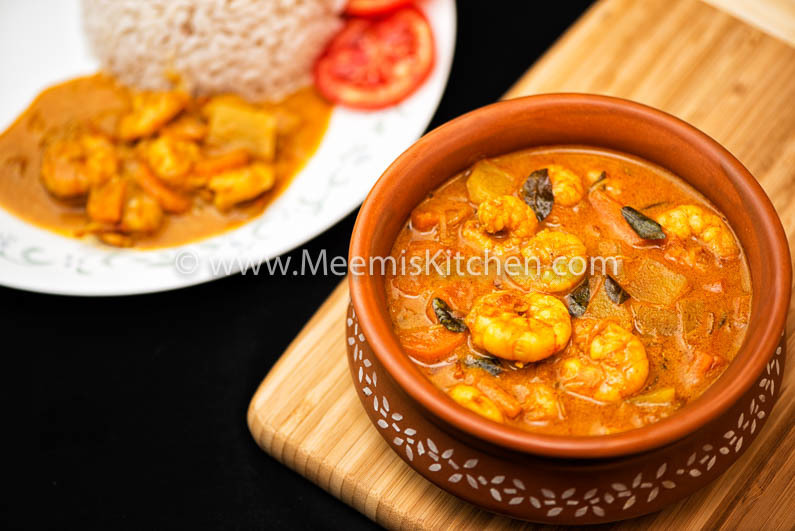 Prawns in Coconut Milk Curry – Sri Lankan Style