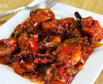 SPICY SHRIMP RECIPE - CHILLI PRAWNS / SHRIMP CHILI