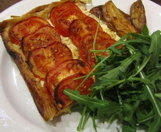Roasted Tomato and Goats Cheese Tart