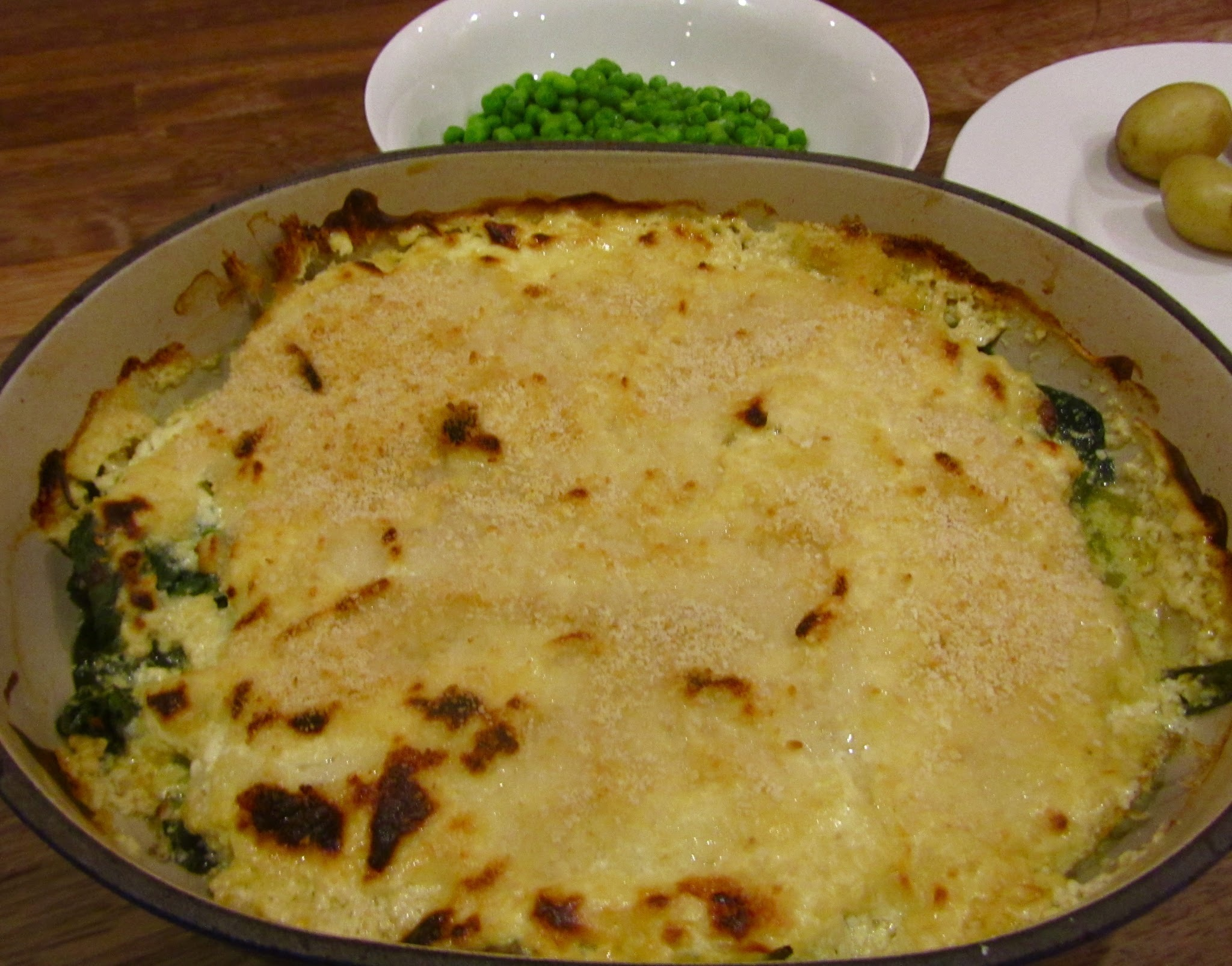 Quick Smoked Haddock and Spinach Gratin