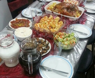New Year's Day Dinner - A Bird with Side Dishes