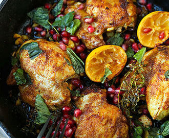 Curried Chicken With Pomegranate