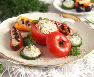 Cream Cheese Stuffed Vegetables