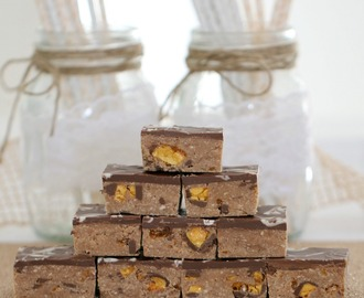 Chocolate Honeycomb Caramello Slice (No Bake)
