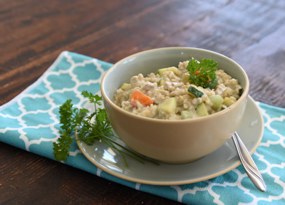 Slow Cooker Vegetable and Chicken Risotto Soup