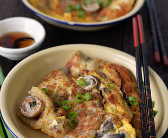 Or Luak / Oyster Omelette 蠔烙 / 蚵仔煎 / 蚝煎 - the healthy version and I like to cook it with NO oyster!