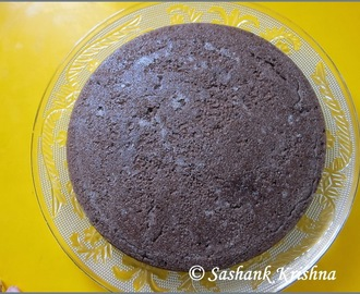 Eggless chocolate cake receipe - using pressure cooker