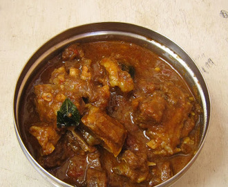 Mutton curry / mutton with coconut milk