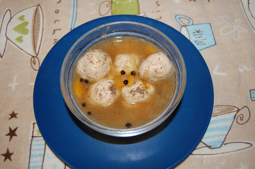 Clear chicken ball soup