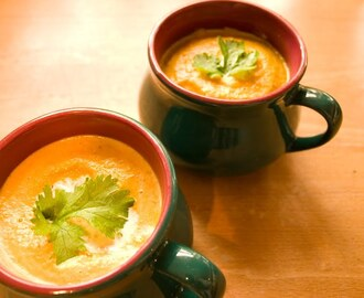 Free-Range Carrots - roasted carrot and coriander soup