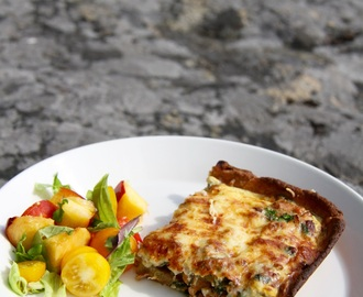 Vegetarisk kantarellpaj