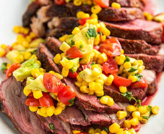 Grilled Tri Tip Roast with Corn Salsa