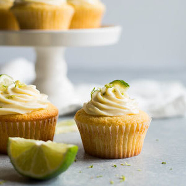 Margarita Cupcakes with Tequila Cream Cheese Frosting