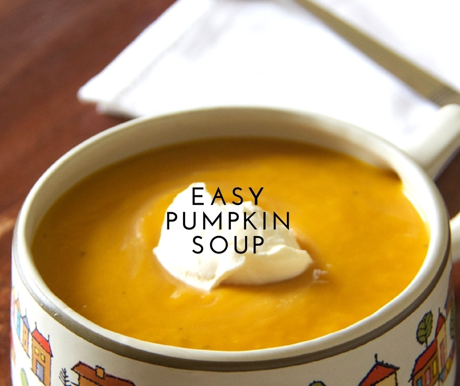 easy pumpkin soup and the great turf war