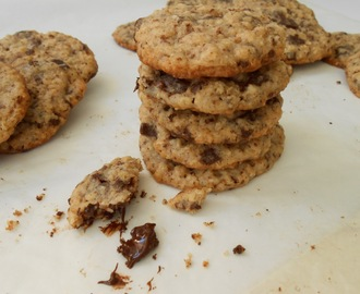 Galletas de chocolate y avena