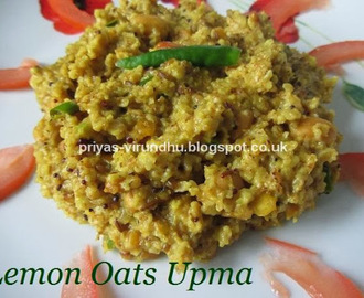 Healthy Lemon Oats Upma [For Breakfast or For Dinner]
