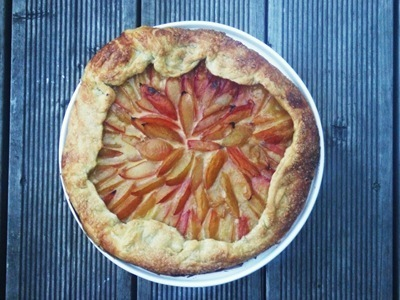 Plum and Marzipan Galette