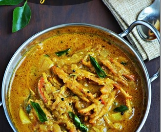 Vazhaipoo puli kuzhambu / Saiva meen kuzhambu / Banana flower curry with video