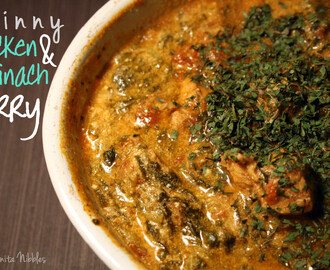 Skinny chicken & spinach curry