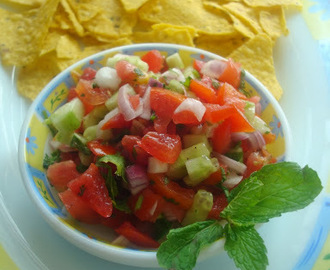 Salsa two ways- Healthy snacking Recipe | Tomato Salsa | Strawberry Salsa