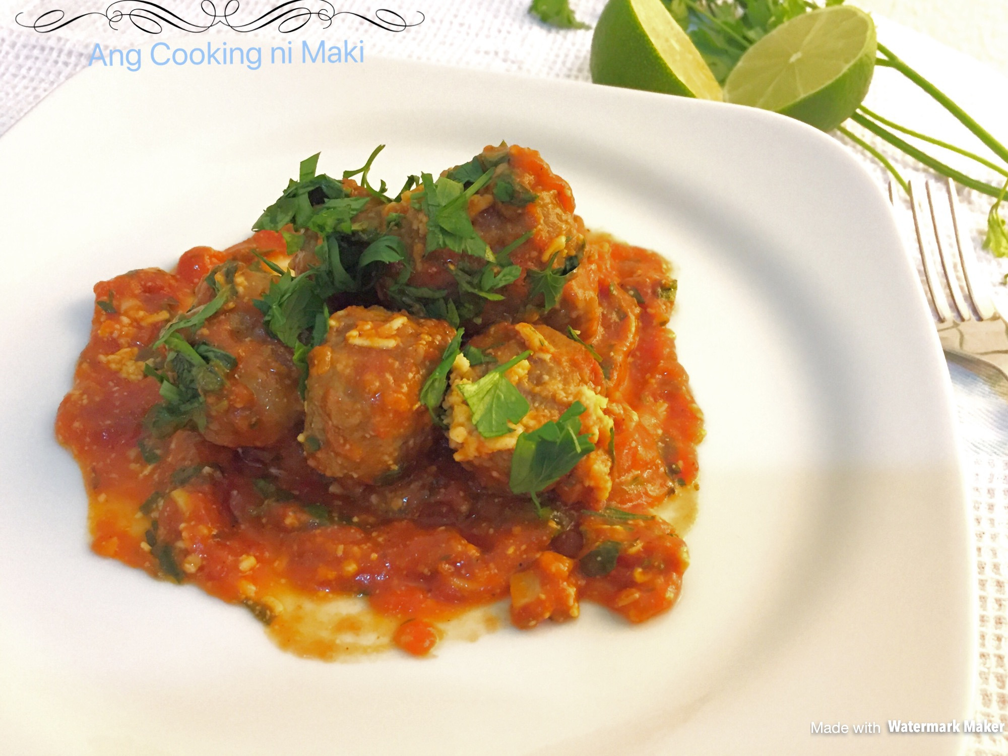 BEEFY MEATBALLS IN SAUCY TOMATO SAUCE