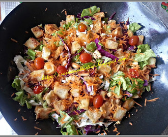 FRESH GARDEN SALAD WITH SPICY DRESSING