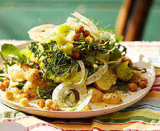 Potato Salad with Fennel, Leeks, and Chickpeas