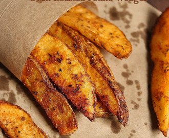 Oven Roasted Potato Wedges | Baked Potato Wedges