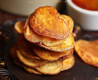 Smoked Paprika Potato Chips | Super Bowl Sunday Snacks| Baked Potato Chips