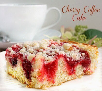 Cherry Cheesecake Coffee Cake  –  Friday Flashback  #25