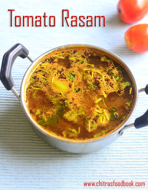 Instant Tomato Rasam Recipe Without Dal – Easy Thakkali Rasam