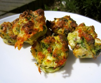 Spinach and goats cheese bites for babies and toddlers