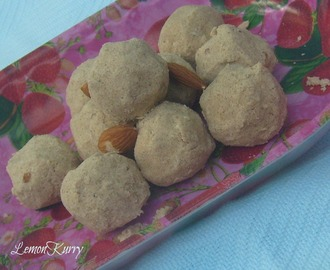 Wheat Almond Ladoo | Healthy Balls | Tea Time Snack