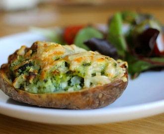 Spinach and Goats cheese stuffed Jacket Potatoes for Babies and Toddlers