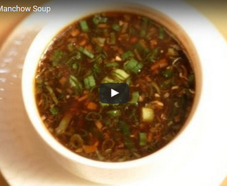 Vegetable Manchow Soup Recipe Video
