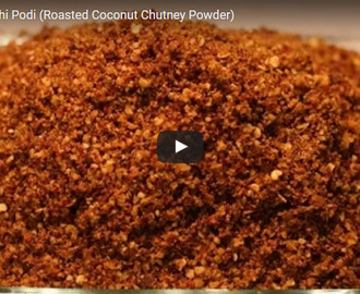 Chammanthi Podi Recipe Video