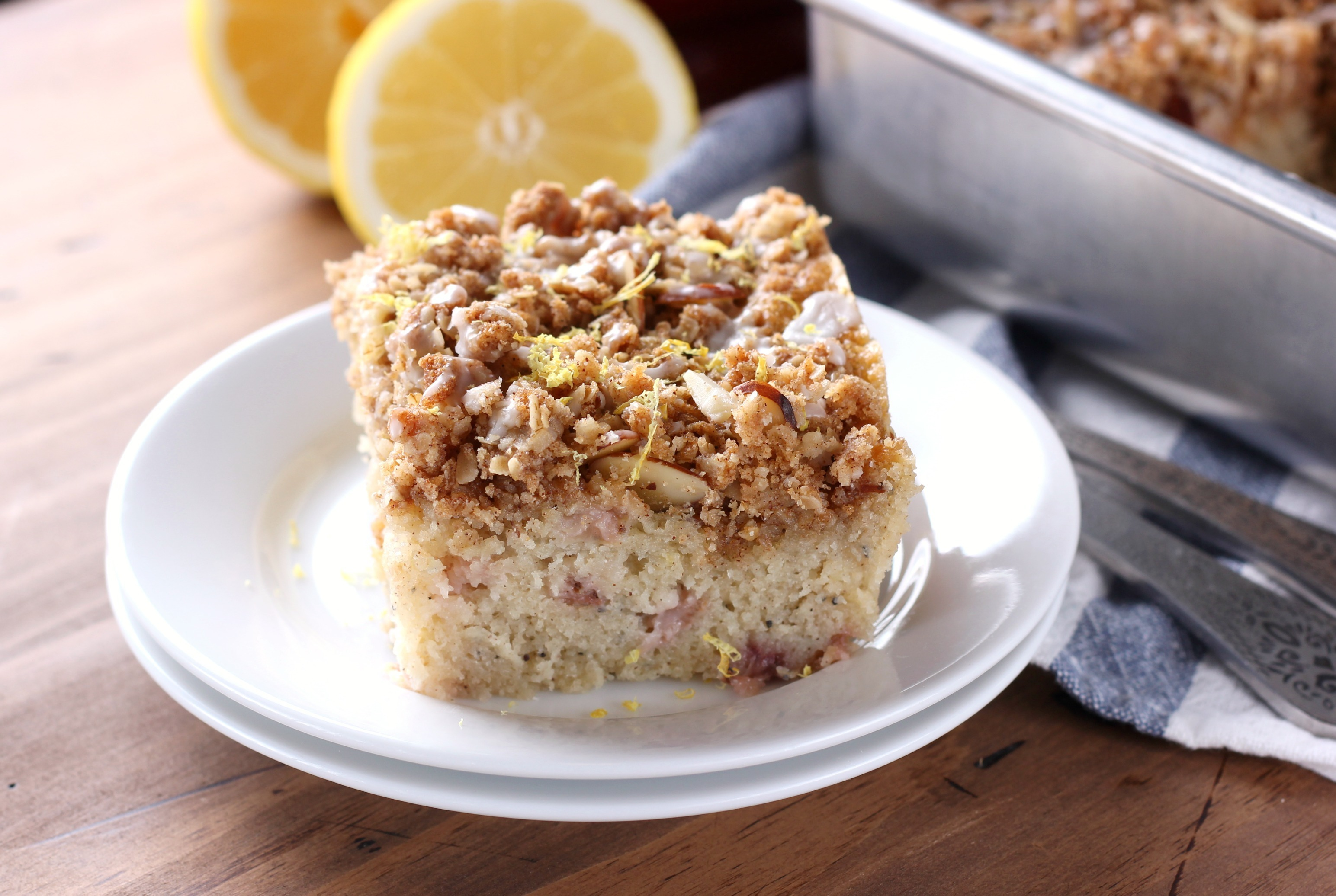 Gluten Free Strawberry Lemon Poppy Seed Coffee Cake