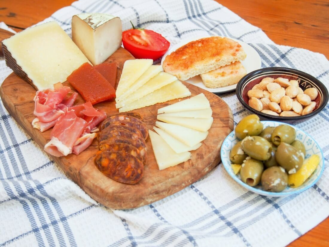 Spanish cheese plate #SundaySupper