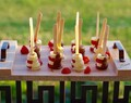 Mini Chocolate Covered Strawberry Banana Skewers
