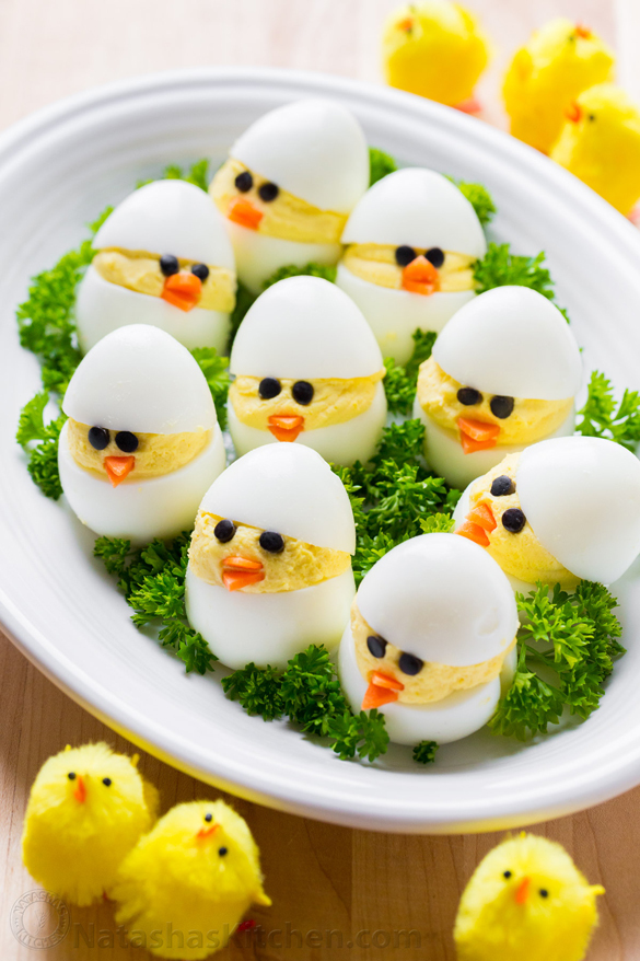 Easter Egg Recipe – Deviled Egg Chicks