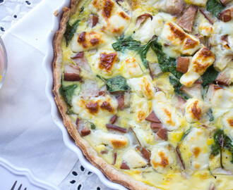 Spinach, Pear and Brie Quiche