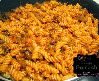 EASY KID FRIENDLY GOULASH
