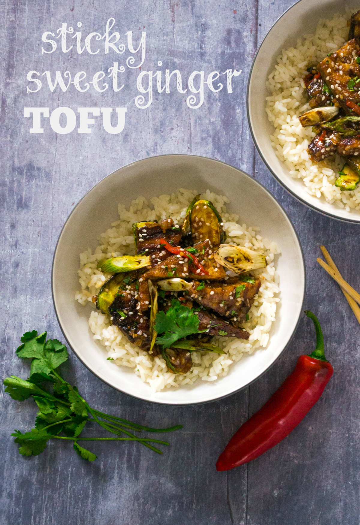 Recipe: Sticky Sweet Ginger Tofu with Baby Courgettes