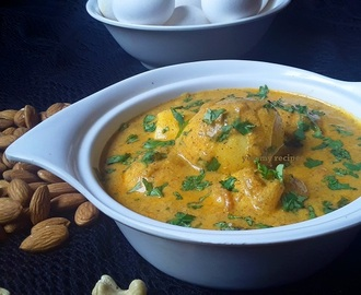 Egg curry in Almond and Cashew Gravy