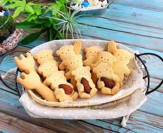 Cute Bear Shortbread Cookies 可爱小熊牛油酥饼