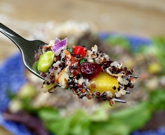 California Quinoa Salad {with Piña Colada Dressing}