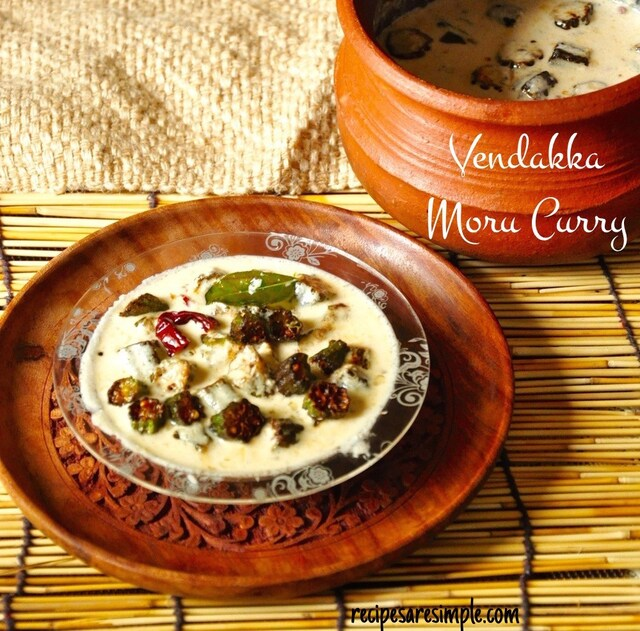 Fried Okra in Yoghurt Coconut Curry | Vendakka Moru Curry
